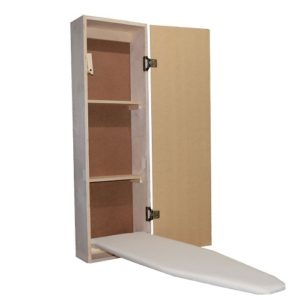 built in ironing board cabinet