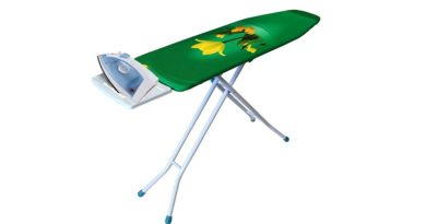 heavy duty ironing board with iron rest